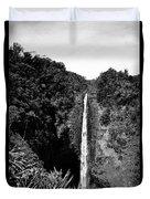 Akaka Falls - Bw Duvet Cover