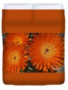 Orange Burst Akuli Kuli Duvet Cover