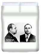 Al Capone Mug Shot Duvet Cover by Edward Fielding