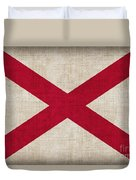 Alabama State Flag Duvet Cover by Pixel Chimp