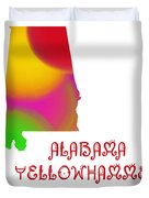 Alabama State Map Collection 2 Duvet Cover