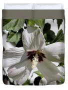 Alabama Wildflower - Swamp Rose Mallow Duvet Cover