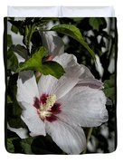 Alabama Wildflower -  Woolly Rose Mallow Duvet Cover