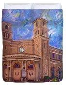 Alameda 1909  Twin Towers Church - Italian Renaissance  Duvet Cover