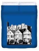 Alamo Square -  Royal Blue Duvet Cover