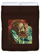 Alan Ginsberg Poet Philosopher Duvet Cover