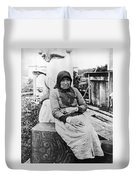 Alaska Eskimo Woman Duvet Cover