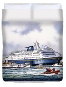 Alaska Ferry Duvet Cover