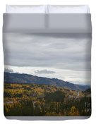 Alaska Highway At Lewes River Bridge  Duvet Cover