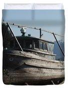Alaska Ketchikan Dry Dock Duvet Cover