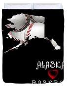 Alaska Loves Baseball Duvet Cover