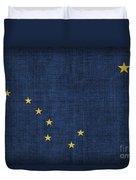 Alaska State Flag Duvet Cover by Pixel Chimp
