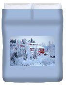 Alaskaland Train Station I Duvet Cover