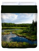 Alaskan Backyard Duvet Cover