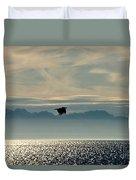 Alaskan Eagle At Sunset Duvet Cover