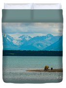 Alaskan Grizzly And Spring Cub Duvet Cover