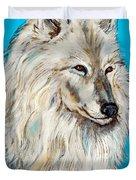 Alaskan White Wolf Original Forsale Duvet Cover