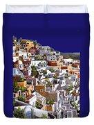 alba a Santorini Duvet Cover