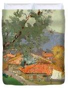 Albanian Countryside Duvet Cover