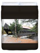 Albany Covered Bridge  Duvet Cover