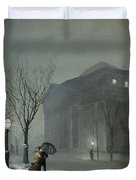 Albany In The Snow Duvet Cover
