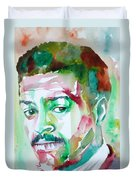Albert Ayler - Watercolor Portrait Duvet Cover
