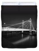 Albert Bridge At Night  Duvet Cover