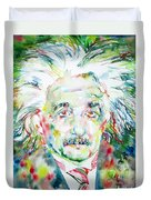 Albert Einstein Watercolor Portrait.1 Duvet Cover