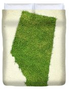 Alberta Grass Map Duvet Cover by Aged Pixel