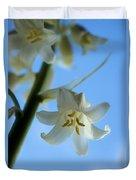 Albino Bluebells 2 Duvet Cover