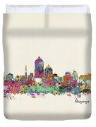 Albquerque New Mexico Skyline Pillow Duvet Cover