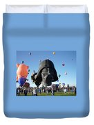 Albuquerque International Balloon Fiesta With Darth Duvet Cover