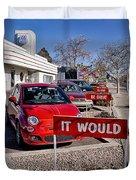 Albuquerque's Route 66 Diner Duvet Cover