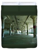 Alcatraz 5 Duvet Cover by Micah May