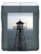 Alcatraz Watchtower Duvet Cover