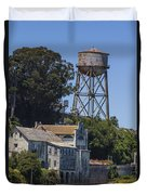 Alcatraz Water Tower Duvet Cover by John McGraw