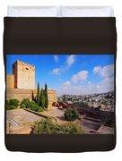 Alcazaba In Granada Duvet Cover