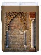 Alcazar Columns In Spain Duvet Cover