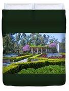 Alcazar Garden Vibrant Color Display Balboa Park Duvet Cover