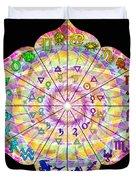 Alchemical Lotus Zodiac Duvet Cover