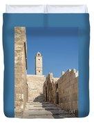 Aleppo Citadel In Syria Duvet Cover
