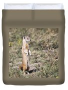 Alert Yellow Mongoose Duvet Cover
