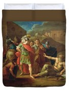 Alexander The Great Visits Diogenes At Corinth, 1787 Oil On Canvas Duvet Cover