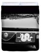 Alfa Romeo Grille Emblem -0287bw Duvet Cover