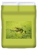 Algae Covered Frog Duvet Cover