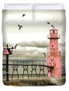 Algoma Pierhead Lighthouse Duvet Cover