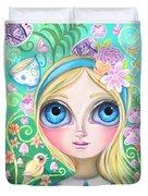 Alice In Pastel Land Duvet Cover