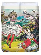 Alice In Wonderland Duvet Cover by Jesus Blasco