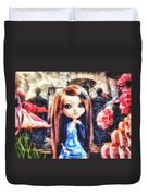 Alice In Wonderland Duvet Cover by Mo T