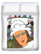 Alice The Waitress Duvet Cover